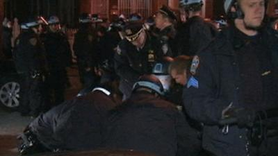 Raw: Tempers Flare at Vigil, 18 Arrested