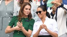 Kate Middleton reportedly comforted Meghan Markle after Serena Williams' Wimbledon loss