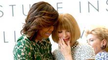 Anna Wintour dodges questions about Melania Trump's style, praises Michelle Obama instead