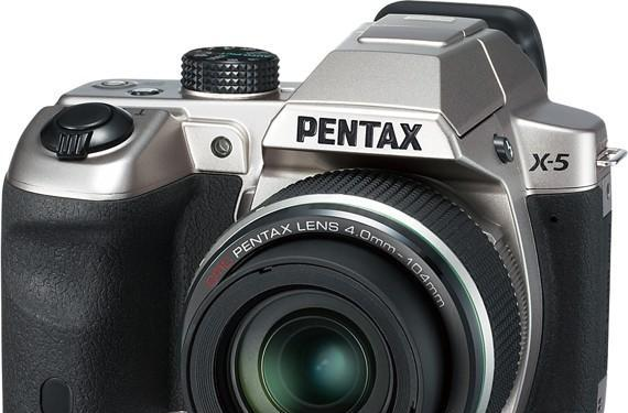 Pentax intros X-5 superzoom camera with 26x lens, tiltable LCD