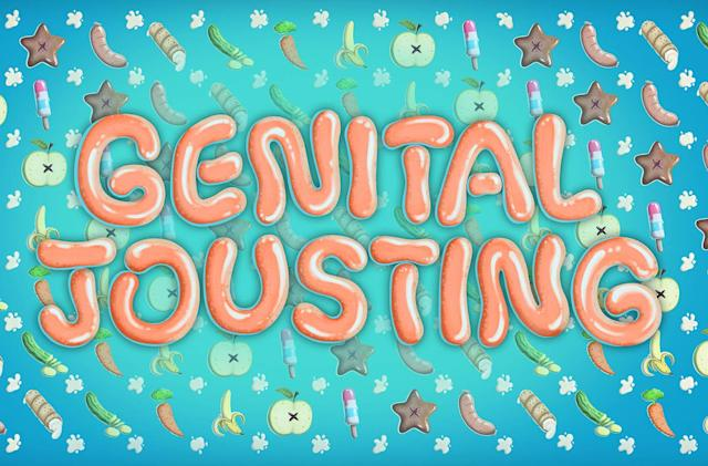 'Genital Jousting' takes its phallic silliness to the beach