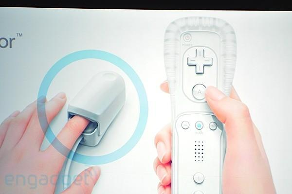 Nintendo Wii Vitality Sensor detects your pulse