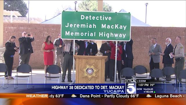 Detective Killed in Dorner Shootout Honored With Highway Dedication