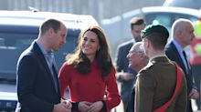 Kate Middleton Wears a Stunning Carolina Herrera Red Coat Dress to Start Her Belfast Visit