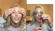 This woman did a 'Not My Arms' challenge makeup tutorial with her boyfriend, and it's pretty hilarious