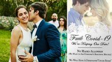 Coronavirus wedding invitation goes viral: 'F*** COVID-19'