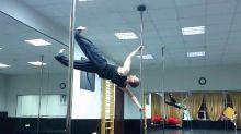 Watch this man perform a gravity-defying air walk
