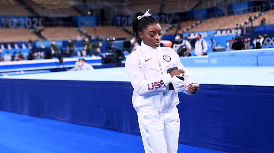 'Quit' isn't the correct word to use for Biles