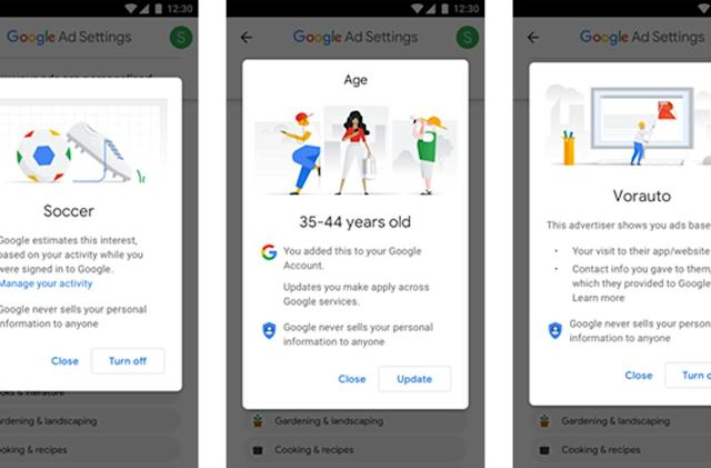 Google is helping users limit targeted ads