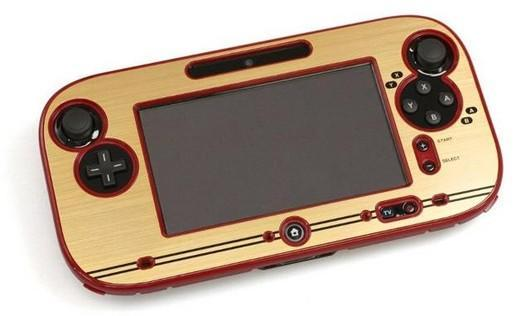 Wii U Famicom skin dresses your WiiPad in red and gold