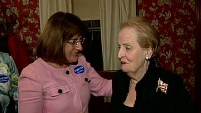 Albright Campaigns For Kuster