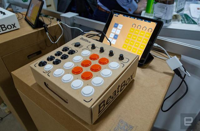 Making music with BeatBox, a Labo-like drum machine kit