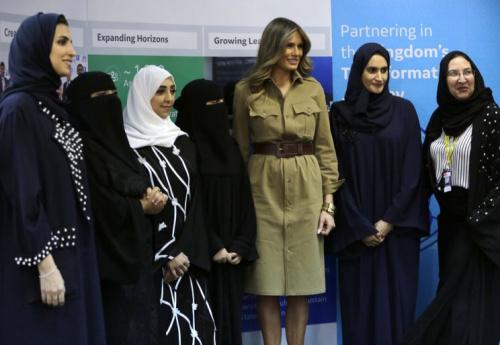 melania trump headscarf saudi arabia