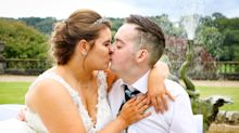 Dying man has beautiful bucket-list wedding entirely donated by well-wishers