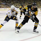The Penguins didn't record a shot on goal for 37 minutes and won Game 1 anyway