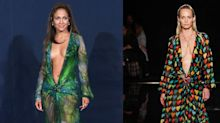 Donatella Versace Recreated Jennifer Lopez's Iconic Green Dress, This Time With Hearts