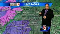 Slight rain chance and chilly in the Triad