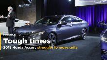 2018 Honda Accord struggles to move units