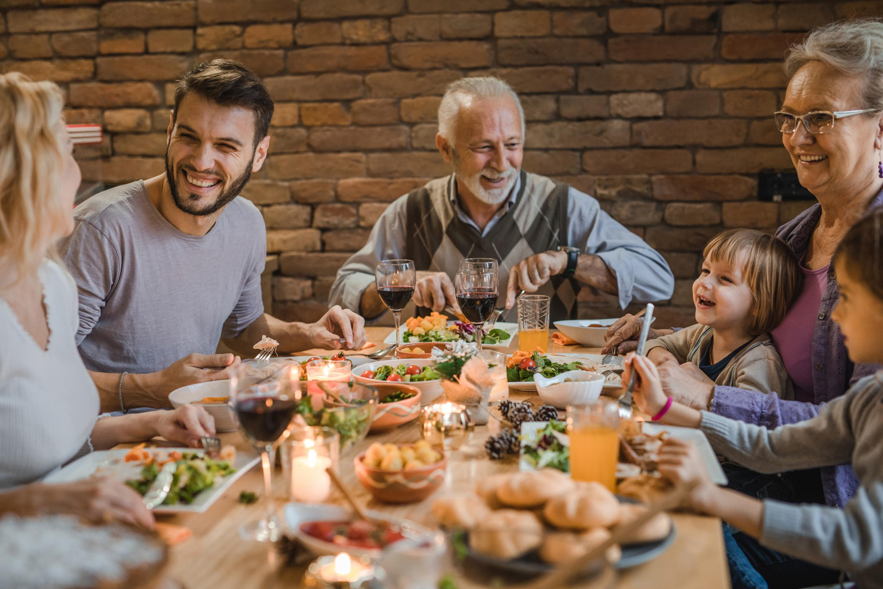 Regularly eating together as a family can improve your ...