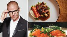 Celebrity chefs Heston Blumenthal, Nobu Matsuhisa and Neil Perry at F1 Singapore Grand Prix's Paddock Club