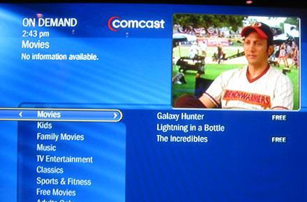 Comcast aiming for 6000 on-demand movies per month, half in HD