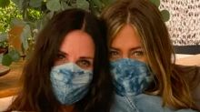 Jennifer Aniston and Courteney Cox Made a Cute PSA on Face Masks
