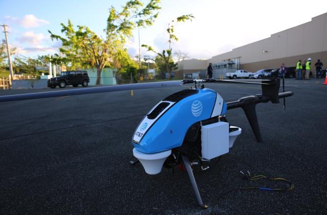AT&T's 'Flying COW' drone provides cell service to Puerto Rico