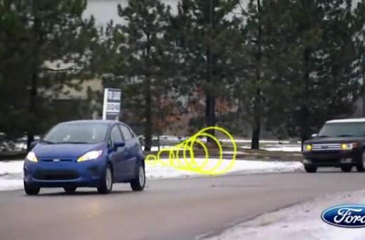 Ford's intelligent vehicles communicate wirelessly, shoot hula hoops out of tailpipes (video)