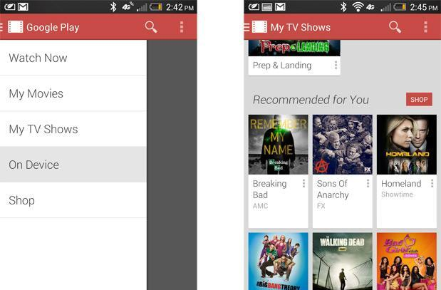 Google Play Movies & TV update adds On Device menu, streamlines episode selection