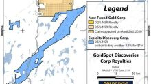 GoldSpot Discoveries Provides Update on New Found Gold Investment and Royalties