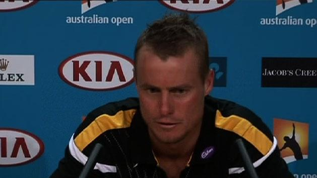 Hewitt knocked out of Aus Open