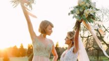 Taylor Swift Totally Nailed Bridesmaid Chic As Her BFF's Maid Of Honour
