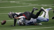 Cowboys fumble four times in horrendous opening quarter against Falcons
