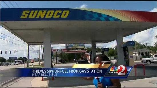 Video shows thieves siphoning fuel