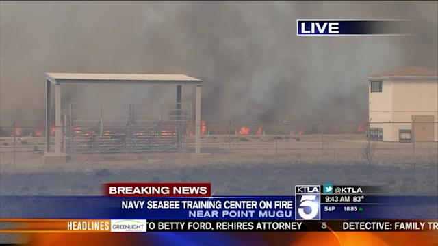 Springs Fire: Navy Seabee Training Center on Fire