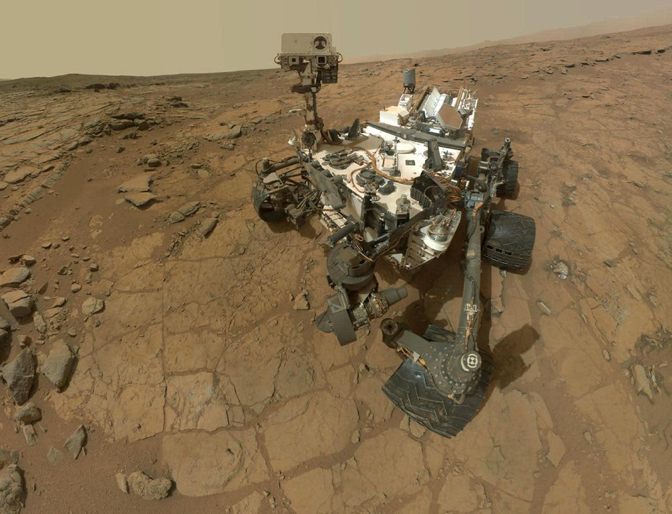 NASA's Mars rover Curiosity on Mars, February 7, 2013