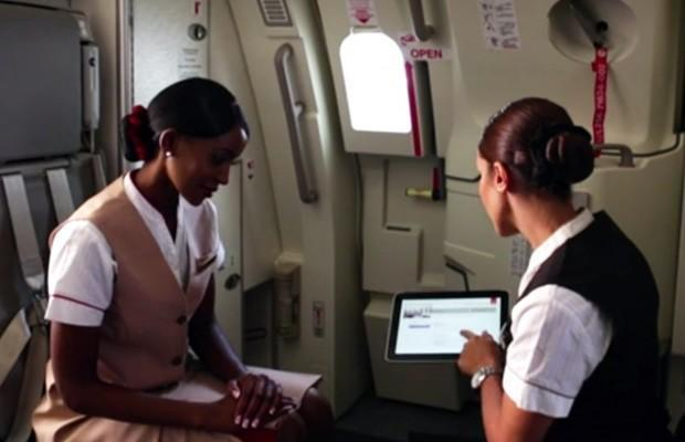 Emirates hands out HP Windows 8 tablets to flight crews, aims for first-class cabin tech (video)