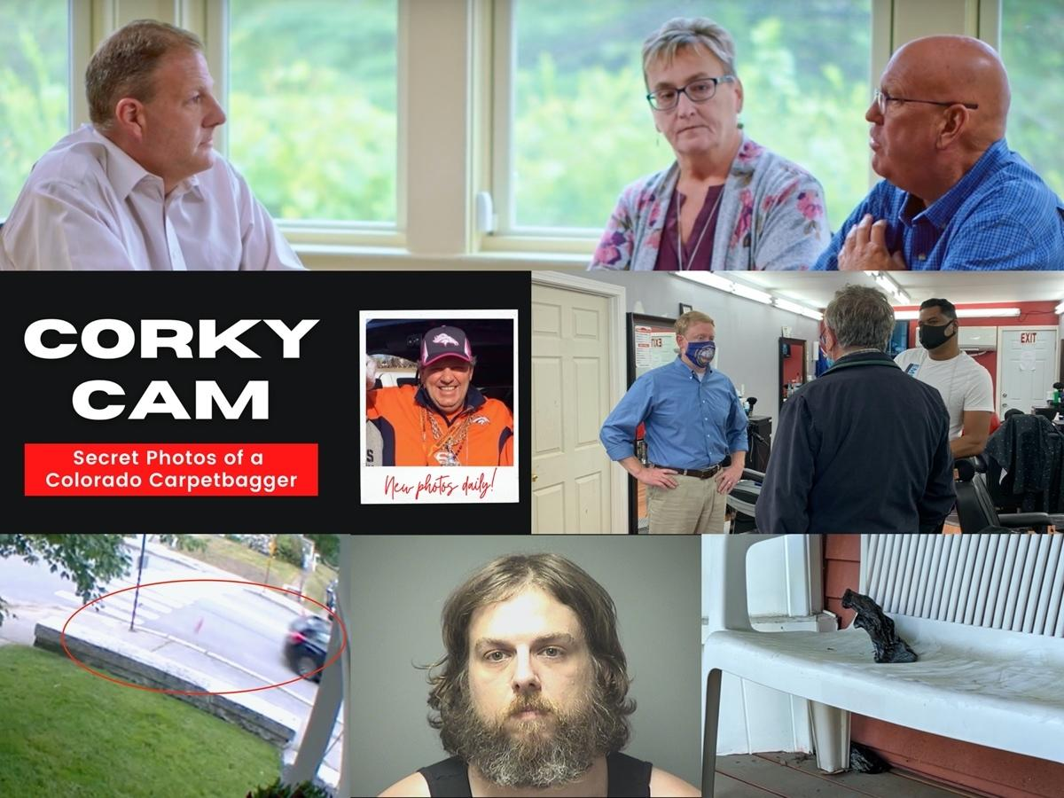 Gov. Sununu's new ad; Feltes campaigns in Nashua; the Corky Cam; William Connery III and dog feces he is accused of throwing at a Manchester home with a Trump flag.