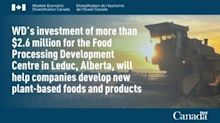 Alberta's plant-based food sector receives federal support