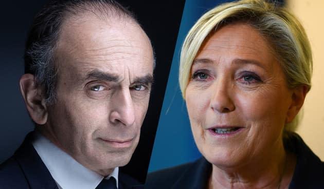 """Zemmour tacle Le Pen, selon lui """"une femme de gauche en décalage avec son électorat"""""""