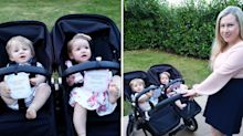 Mum creates 'Don't Touch' signs for twin babies to avoid strangers' germs