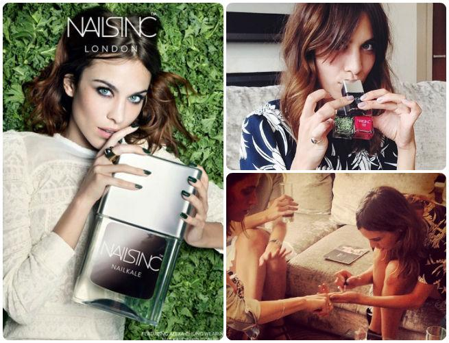 Alexa Chung Teams Up With Nails Inc For Texture Based Nail Varnishes