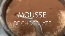 Receita de mousse de chocolate que só leva três ingredientes