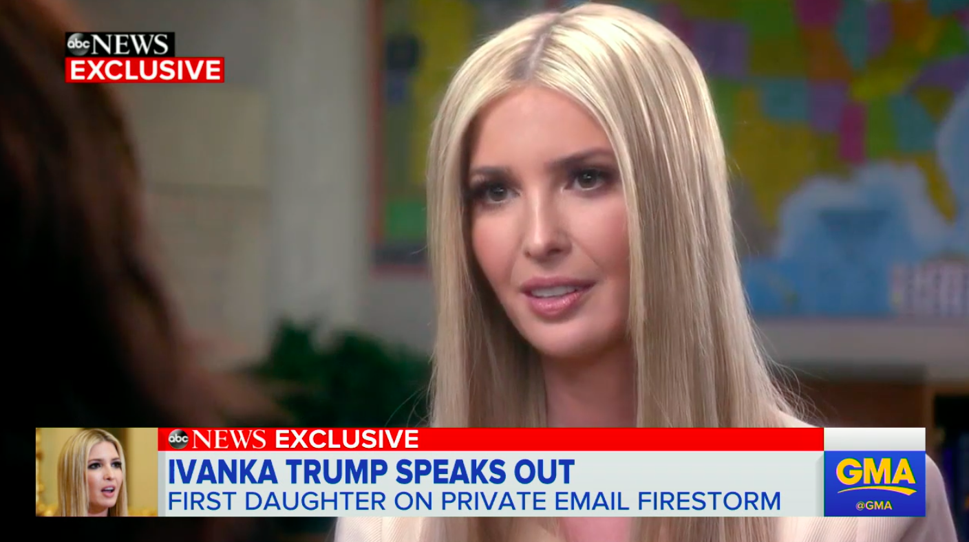 Ivanka Trump Defends Use of Private Email, Says It's ...