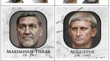 La inteligencia artificial ha conseguido dar vida al rostro de 54 emperadores romanos