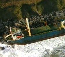 'Ghost ship' washes ashore in Ireland after Storm Dennis