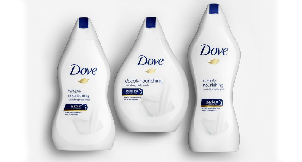 Three limited-edition Dove body wash bottles (Dove)