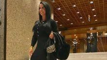 Graciele Lacerda usa bolsa de R$ 20 mil para jantar em Lisboa