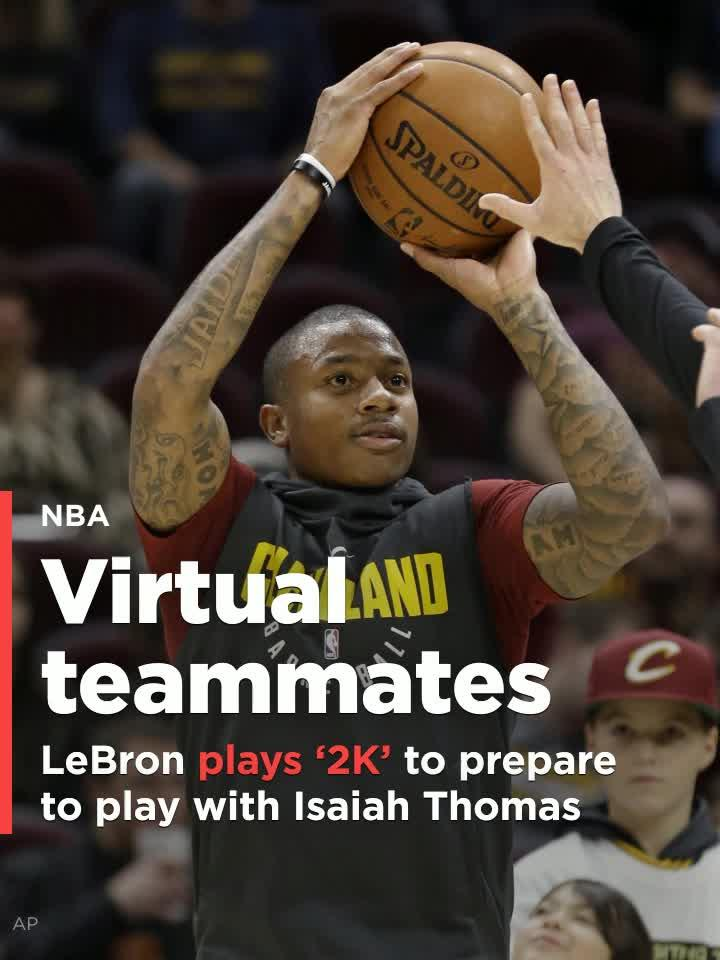 e86d05619744 LeBron James plays  NBA 2K  to prepare for the return of Isaiah Thomas   Video
