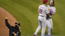 Phillies star Bryce Harper ejected arguing fair-foul call